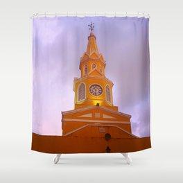 Cartagena Clocktower Shower Curtain