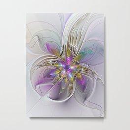 Flourish Abstract 2, Fantasy Flower Fractal Metal Print