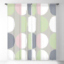 Mid Century Modern Moon & Sun pattern 1 Blackout Curtain