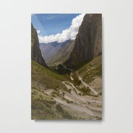 Serpentine Road for Crossing Andes Mountains Metal Print