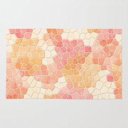 Peaches and Cream Mosaic Rug