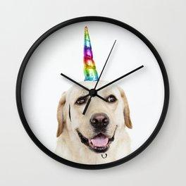 Funny Cute Unicorn Labrador Wall Clock