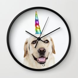 Funny Cute Unicorn Labrador Wall Clock