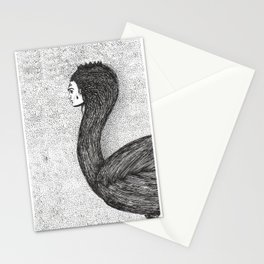 human swan Stationery Cards
