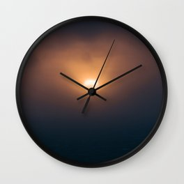 Sunset Ocean Bird in Ireland Wall Clock