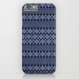 Thai Indigo Batik 1 iPhone Case