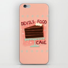 Devil's Food Cake An All American Classic Dessert iPhone Skin