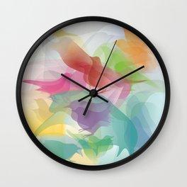 Blackbirds in Colors Wall Clock