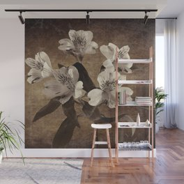Vintage Flowers Digital Collage 19 Wall Mural