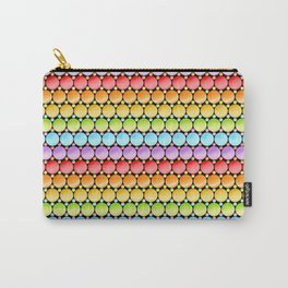 Rainbow Dotty Stripes Carry-All Pouch