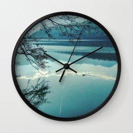 Italian landscapes - Levico lake Wall Clock