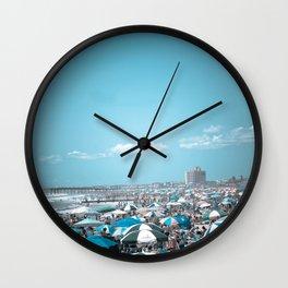 Jersey Shore Blue Beach Art Coastal Seaside Photograph Wall Clock