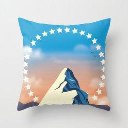 Movie Mountain Throw Pillow