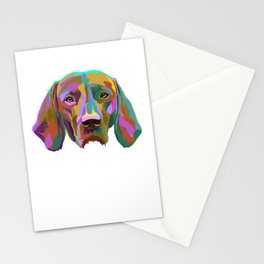 Vizsla Dog splash Stationery Cards