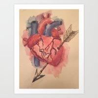 Arrow Heart Art Print