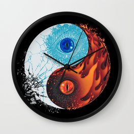Ice and Fire Wall Clock