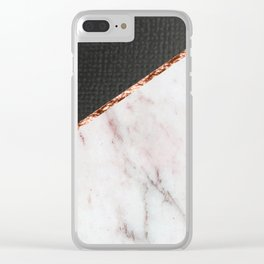 Marble fashion texture Clear iPhone Case