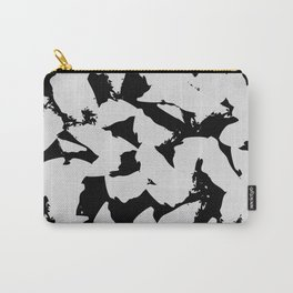 Black Bird Wings on Grey Carry-All Pouch