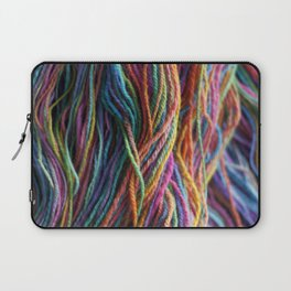 Rainbow Multi-color Handspun Yarn Laptop Sleeve