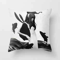 A Mile Away From Anywhere Throw Pillow