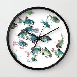 Barb Fish Wall Clock