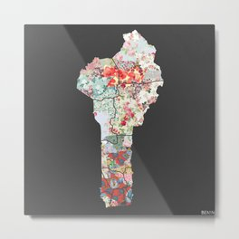 Benin map #2 Metal Print