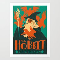 hobbit Art Prints featuring The Hobbit by Greg Wright