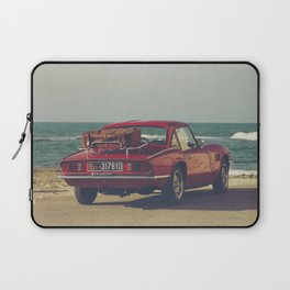 Red Supercar, classic car, triumph, spitfire, color photo, interior design, old car, auto Laptop Sleeve
