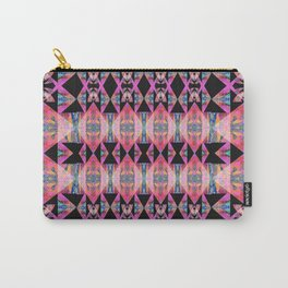 Diamond Geometric Power Pattern in Broad Spectrum Pink Carry-All Pouch