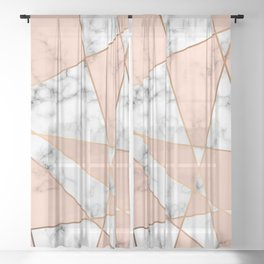 Marble Geometry 050 Sheer Curtain