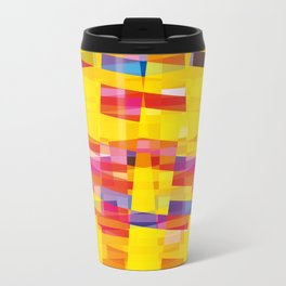 yellow pixel storm Travel Mug