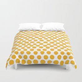 Honey Gold Dots - White Duvet Cover