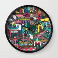 good morning Wall Clocks featuring Good Morning! by Valeriya Volkova