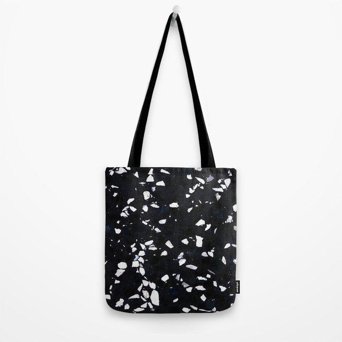 Black Terrazzo Tote Bag