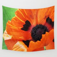 poppy Wall Tapestries featuring POPPY by Teresa Chipperfield Studios