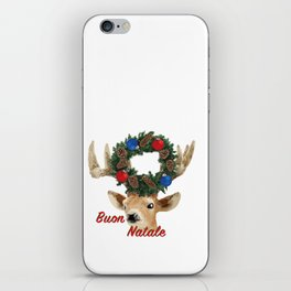 Buon Natale - italiano Merry Christmas Deer iPhone Skin