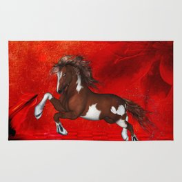 Beautiful wild horse Rug