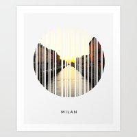 milan Art Prints featuring MILAN by Daniel Rey