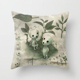 Natural Histories - Forest Spirit studies Throw Pillow