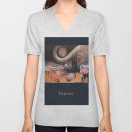 Taurus- The Zodiac Wildlife Series Unisex V-Neck
