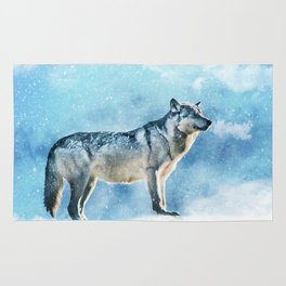 Artic Wolf Rug