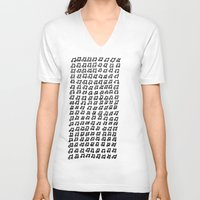 music notes V-neck T-shirts featuring MUSIC Notes  by Geryes
