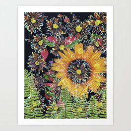 Flower Collage 2 Art Print