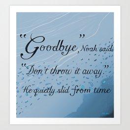 """Don't Throw It Away"" Raven King Quote Art Print Art Print"