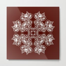 Floral baroque style Metal Print