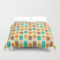 popsicle Duvet Covers featuring Popsicle by Liz Urso