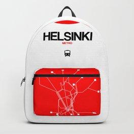 Helsinki Red Subway Map Backpack
