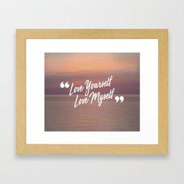 BTS: Love yourself, love myself Framed Art Print