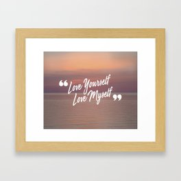 BTS: Love yourself, love myself Framed Art Print