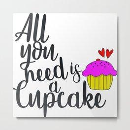 Cupcake Lover Metal Print